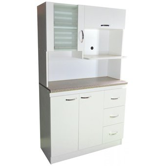 Compra repostero 1 0 para microondas amueble blanco for Muebles de cocina para microondas