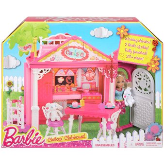 casa club de la barbie chelsea doll play
