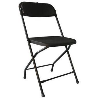 Compra silla plegable de plastico color negro online - Sillas de plastico para terraza ...