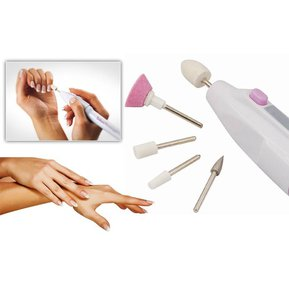 Pulidora Portátil Decoradora De Uñas Para Manicure Y Pedicure Con 5 Puntas De Lima Diferentes E Intercambiables