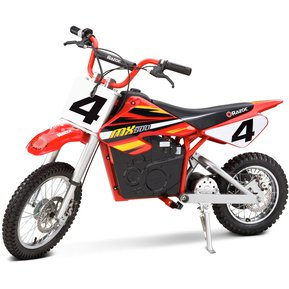 razor moto elctrica dirt rocket mx rojo y blanco