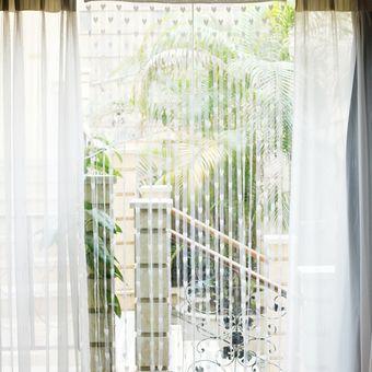 magideal corazn cortina para puerta divisor ventana habitacin sala cadena borla blanco