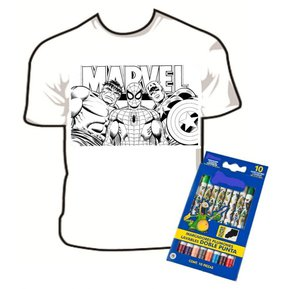 camiseta divertida para colorear nio arte box superheroes