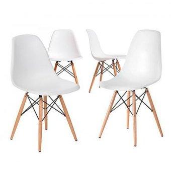 compra set de 4 sillas eames dsw blanco online linio chile