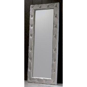 agotado espejos tapizados 70x140 eco cuero plateado magic class - Espejos Plateados