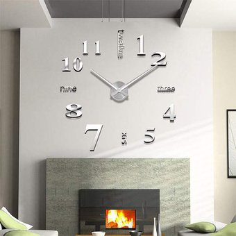 liquidacin moderno grande superficie de la pared diy reloj espejo pegatinas d room decorplata