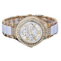 ge de la mujer plata diseador ronda reloj pulser