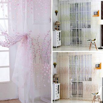 agotado patrn wintersweet mitad shading cortina para ventana de la puerta de la habitacin de la decoracin