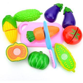 pcs juguetes jugar casa simulacin cocina juego de cocinar equipo cena fruta snacks sets regalos para
