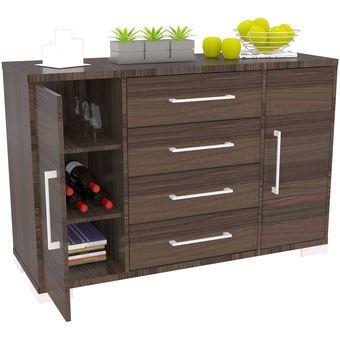 Compra mueble bifet 4 cajones maderkit color roble ahumado - Muebles comodas y cajoneras ...