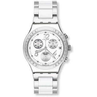 reloj swatch ycsgc plateado