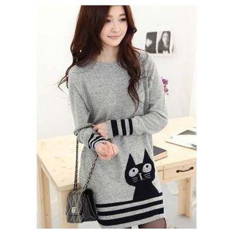 Moda ropa Solid gris de punto Mini vestido tubo para mujer