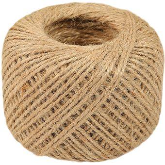 1 rollo de 50 m arpillera ambiental camo cuerda cuerda cuerda del hessian cuerda embalaje decoracin - Cuerda Caamo