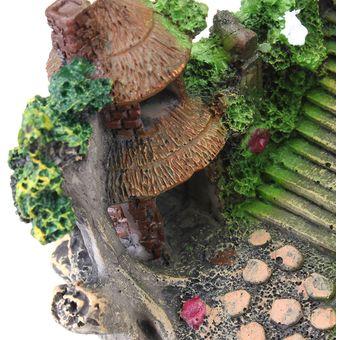 acuario pecera artificial rocalla puente pez de colores simulacin resina adornos paisajismo decoracin