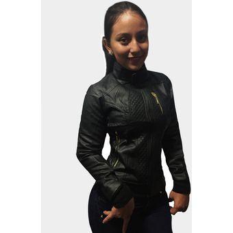 chaqueta eco cuero para mujer italiana g