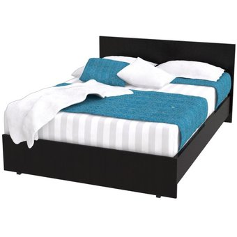 Compra cama doble maderkit color wengue 00079 online - Camas doble para ninos ...