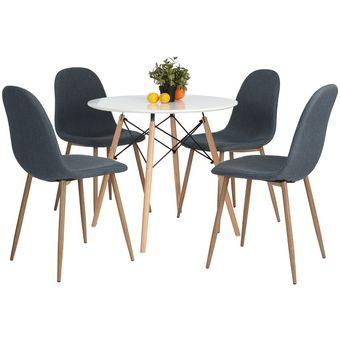 Compra sillas para comedor estilo charlton 4 piezas color for Sillas de comedor para ninos