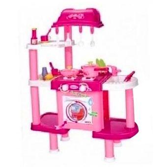 agotado cocina interactiva de juguete con lavadora para nias ref