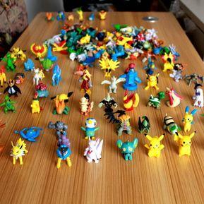 juguetes para los nios pcs de pokemon figuras de accin anime pequeos