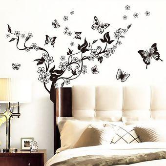 vinilo d de flor de mariposa para pared