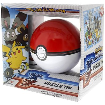 Pokemon Pokeball Poke Ball Sphere Puzzle Tin - 100 Piece Puzzle - Colors May Vary By Cardinal Games