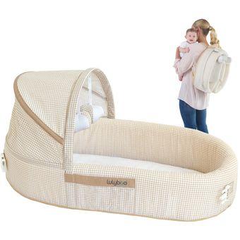 cuna cama de viaje para bebe portatil plegable en mochila lulyboo