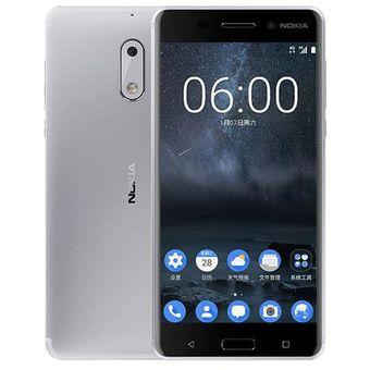 Celular Nokia 6 4GB RAM 32GB ROM - Plata