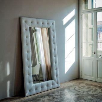 espejos tapizados x eco cuero blanc