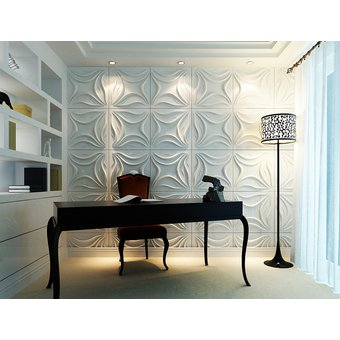 panel decorativo de paredes 3d wall design 50cm x 50cm lily - Paneles Decorativos 3d