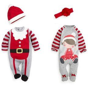 modaling regalos de la navidad del beb de los mamelucos disfraces nios usan ropa del beb