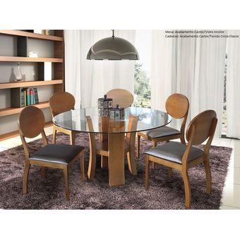 Compra mesa redonda de estudio con 5 sillas e a rice acabado madera natural online linio per - Mesa redonda con sillas ...