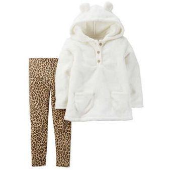 carters conjunto de piezas casaca velboa leggings animal print para nia