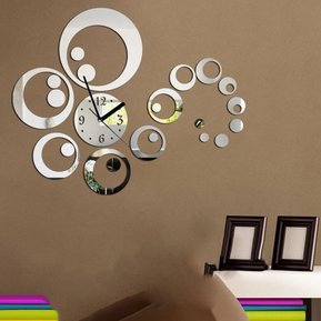 ew pc sistema dty decoracin espejo pegatinas pared reloj reloj de pared de la