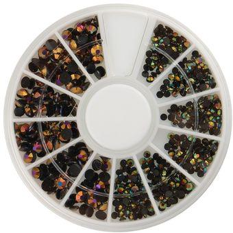Compra duola 3d nail art 300pcs gemas cristal purpurina - Decoracion con ruedas ...