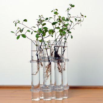 magideal claro tubos peces jarrn de cristal flor forma la decoracin del hogar del tanque