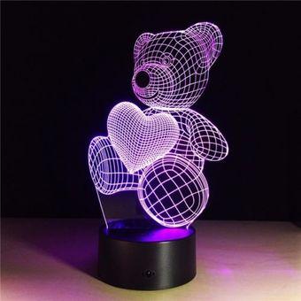 lampara led d funciona corriente elctrica cambio de colores luz nocturna diseo