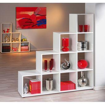 muebles bonno separador de ambiente goody 10 espacios blanco - Separadores De Ambiente