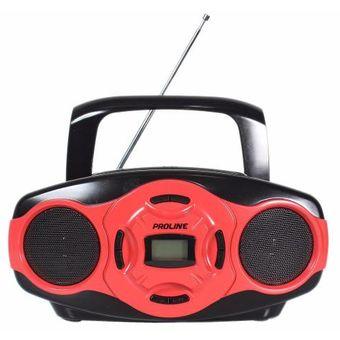 Reproductor Proline Pr50R-Po Con Usb-Rojo.