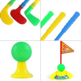 er conjunto multicolor de plstico golf juguetes para nios al aire libre del patio trasero