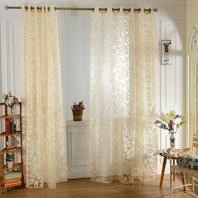 flor europea impresa tulle cortinas de l