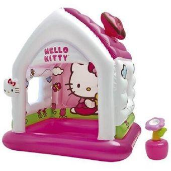 intex hello kitty casa casita inflable para nias rosado