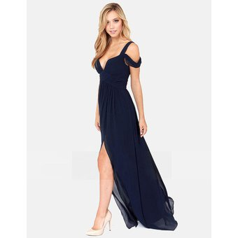 Imagenes de vestidos de noche azul marino