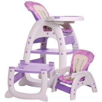 ebaby silla de comer tipo carpeta escritorio en lila bebe