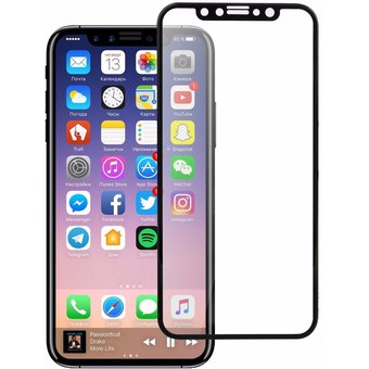 Mica Cristal Templado Para Iphone X  Full Cover Gorrilla Glass 9H