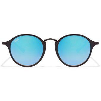 RayBan 2447 901/40 Marco Negro Lente Azul Espejado Mirror Uv400 Italianas