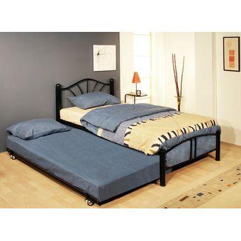 Compra cama individual y cama baja con ruedas 6827 3050 for Recamaras individuales modernas