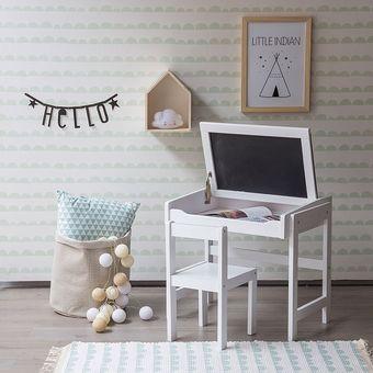 agotado escritorio con silla infantil noby kei kidsblanco
