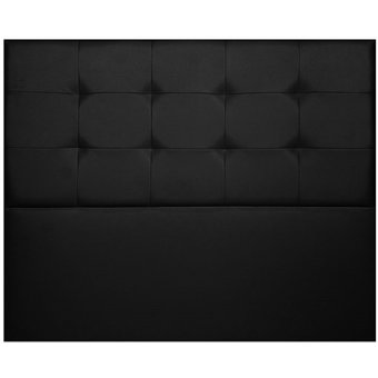cabecero elegant para base cama sencillo xx negro