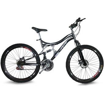 Bicicleta Todoterreno Gw Doble Suspension 18 Velocidades Freno De Disco Todoterreno