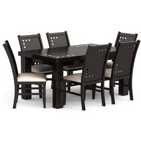 Comedor dalia 6 sillas caf precio 20 descuento for Comedor 6 sillas precio